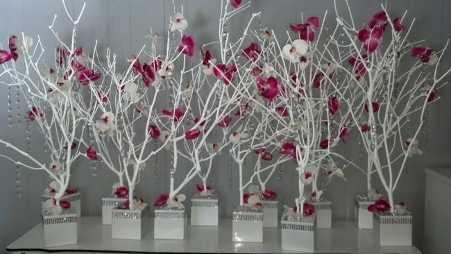 Декоративное дерево белое фото