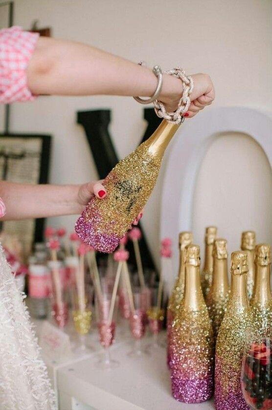 Какой краской красить бутылки шампанского