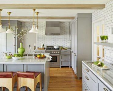 серые оттенки в кухне