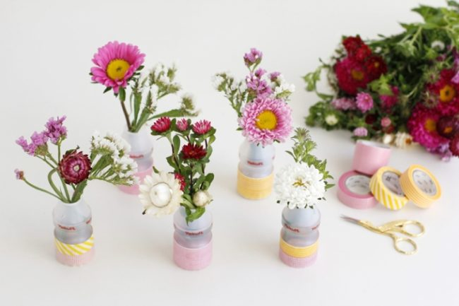 Декор банки и вазы летами