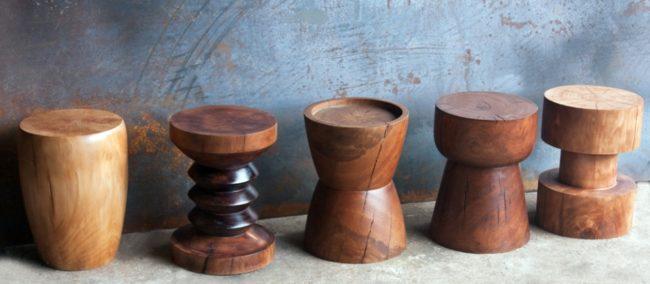 африканские стульчики дерево