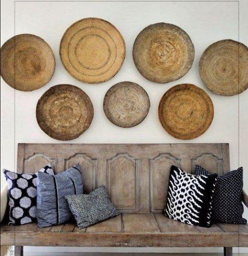 глиняные тарелки длядекора