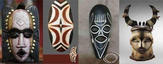 африканские маски для интерьера фото