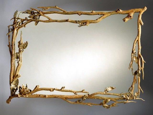 декор ветками зеркала фото