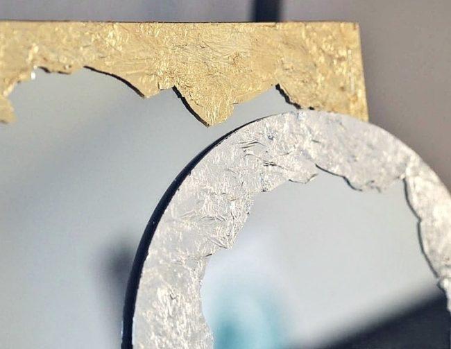 оформление зеркала золотом мастер класс
