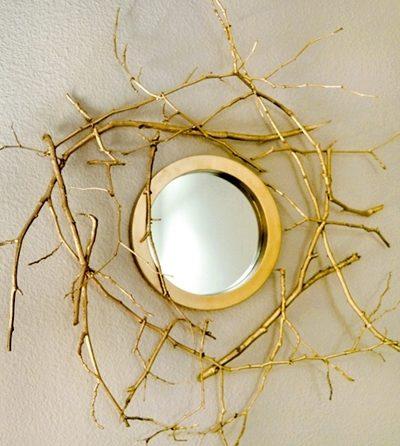 Рамка для зеркала своими руками из веток