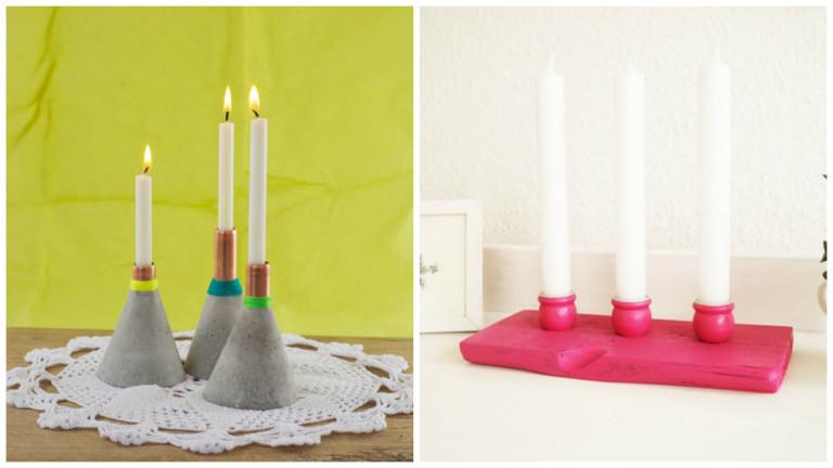 Подсвечник своими руками для длинных свечей для свадьбы