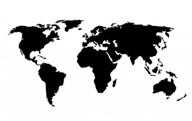трафарет карта мира