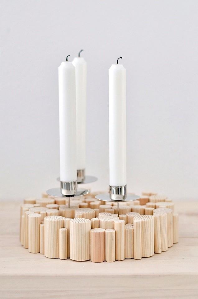 Подсвечников для длинных свечей из дерева