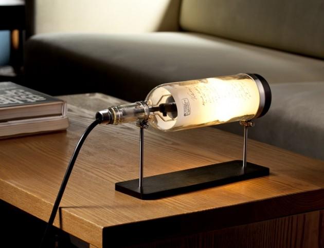светильников из бутылки для стола