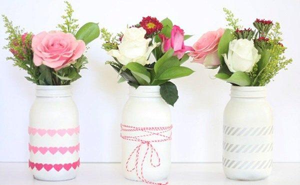 вазы из банок с акрилом