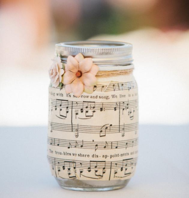 Декор ваз и банок бумагой