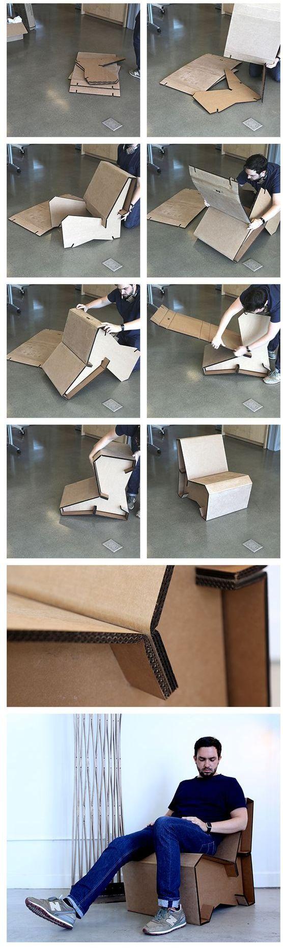 кресло и стул схема из бумаги и картона