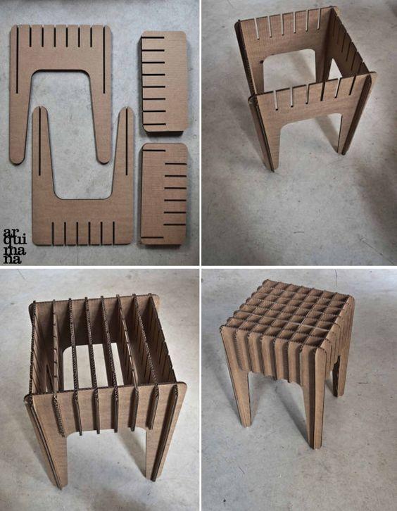 стул из картона своими руками