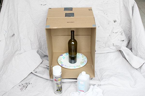 как покрасить бутылку
