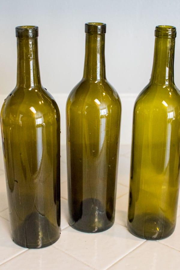 помыть бутылки винные