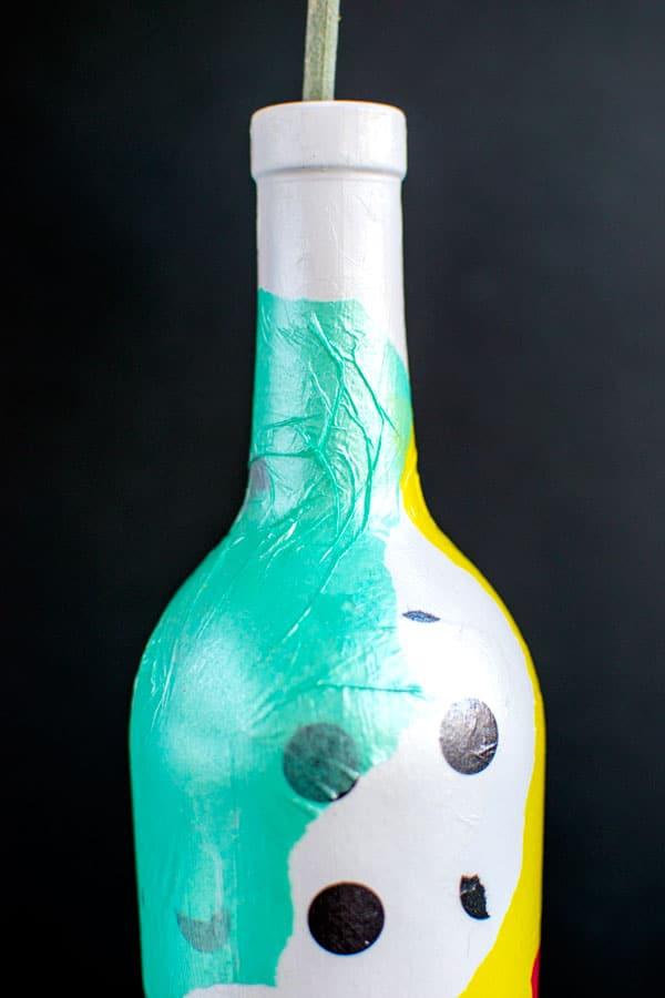 декор бутылки ваза