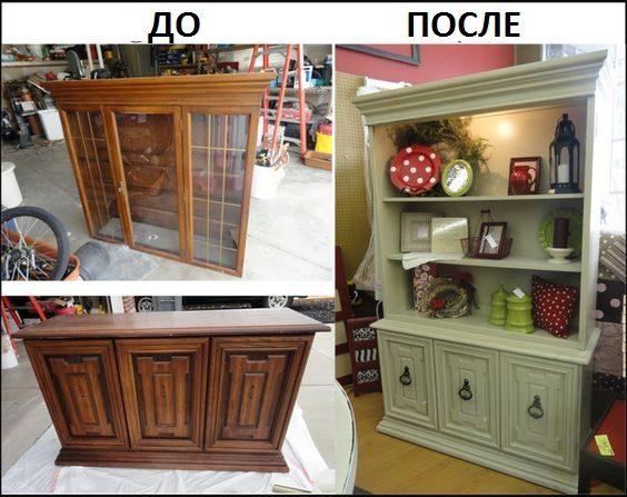 Как обновить и покрасить старый шкаф своими руками фото