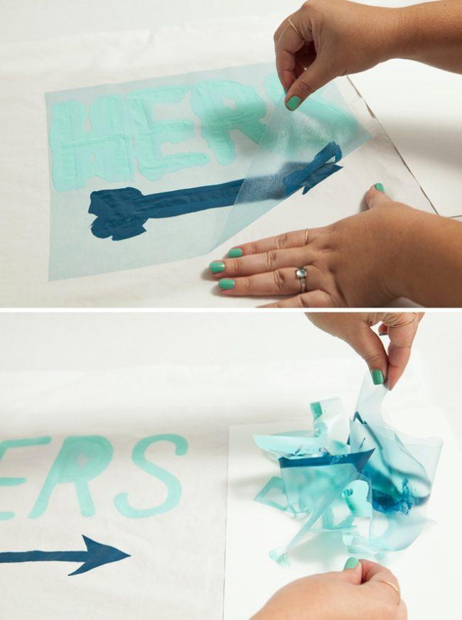 Делаем надпись на подушке своими руками - мастер класс